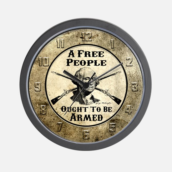 A Free People Wall Clock