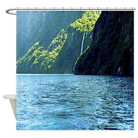 Milford Sound Sterling Falls NZ Shower Curtain