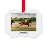 Horse racing secretariat Picture Frame Ornaments