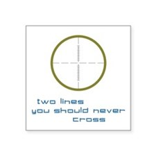 "Two Lines Square Sticker 3"" x 3"""