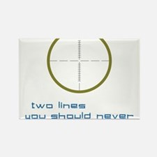 Two Lines Rectangle Magnet
