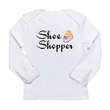 shoe shopper baby Long Sleeve T-Shirt