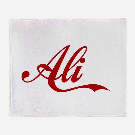 Ali name Throw Blanket