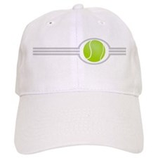 Three Stripes Tennis Ball Baseball Cap