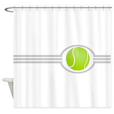 Three Stripes Tennis Ball Shower Curtain