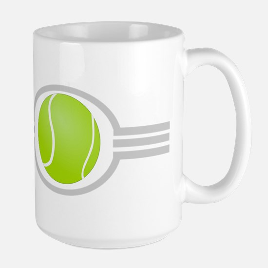 Three Stripes Tennis Ball Large Mug