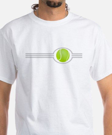 Three Stripes Tennis Ball White T-Shirt