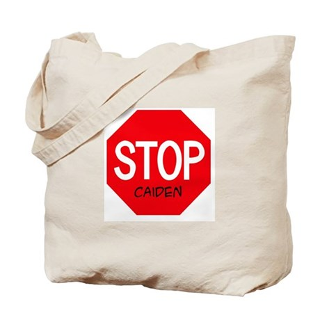 Stop Caiden Tote Bag