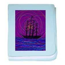 ghost ship at crazy sea storm spiral art by Tia Kn