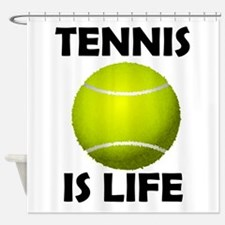 Tennis Is Life Shower Curtain