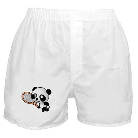 Panda Tennis Player Boxer Shorts