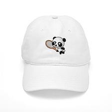 Panda Tennis Player Baseball Cap
