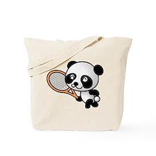 Panda Tennis Player Tote Bag