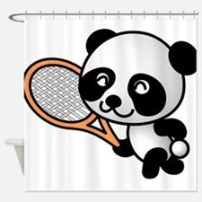 Panda Tennis Player Shower Curtain