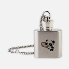 Panda Tennis Player Flask Necklace