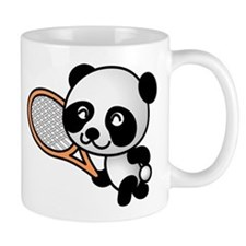 Panda Tennis Player Mug