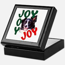 Christmas Border Collie Keepsake Box