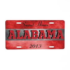 Alabama Aluminum License Plate