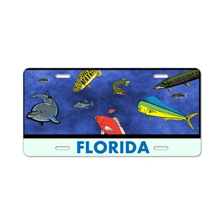 Florida fish tank aluminum license plate by markmoore for Florida 3 day fishing license