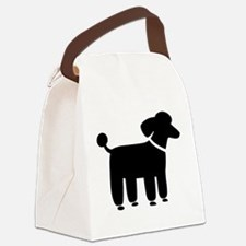 Cute Standard poodle Canvas Lunch Bag