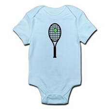 Tennis Racket With Ball Infant Bodysuit