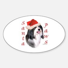 Santa Paws Havanese Oval Decal