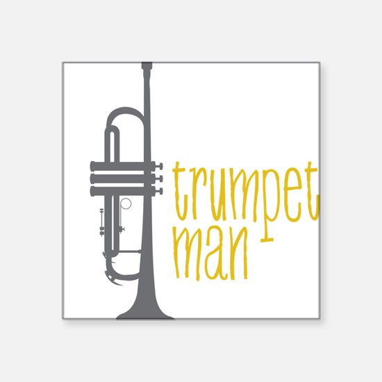 "Trumpet Man Square Sticker 3"" x 3"""