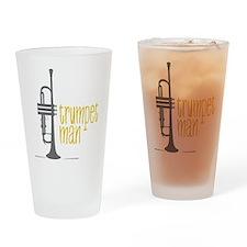 Trumpet Man Drinking Glass