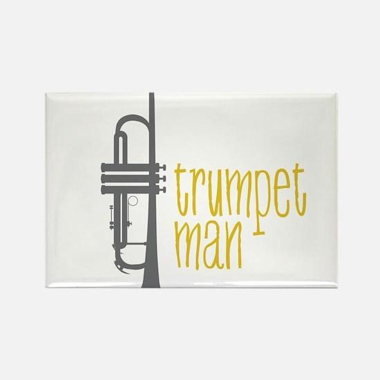 Trumpet Man Rectangle Magnet
