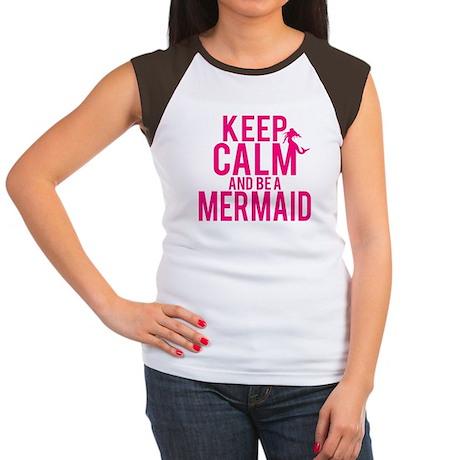 BE A MERMAID Women's Cap Sleeve T-Shirt