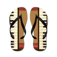 Piano Keys Border flip flops