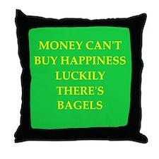 bagel Throw Pillow