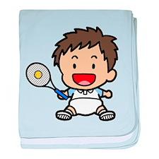 Baby Boy Tennis Player baby blanket