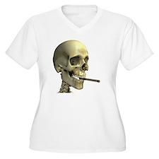 Smoking skeleton - T-Shirt