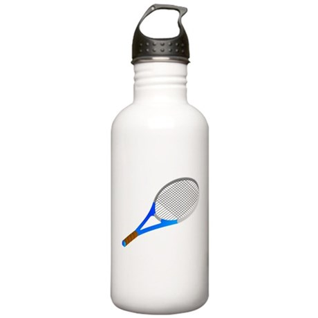 Blue Tennis Racket Stainless Water Bottle 1.0L