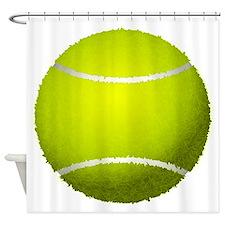 Fuzzy Tennis Ball Shower Curtain