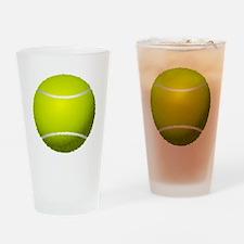 Fuzzy Tennis Ball Drinking Glass