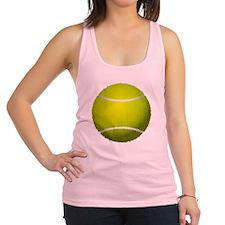Fuzzy Tennis Ball Racerback Tank Top