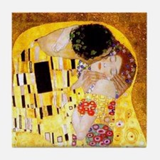 The Kiss by Klimt Tile Coaster