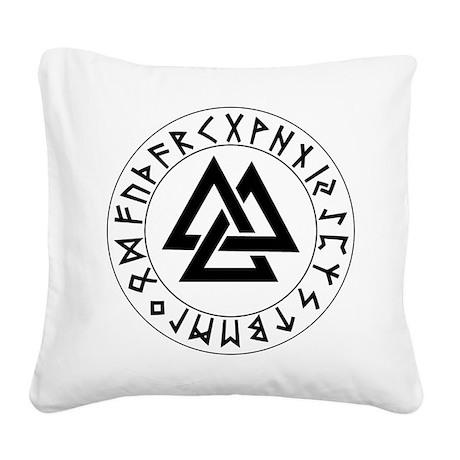 Rune Shield Tri-Triangle.png Square Canvas Pillow