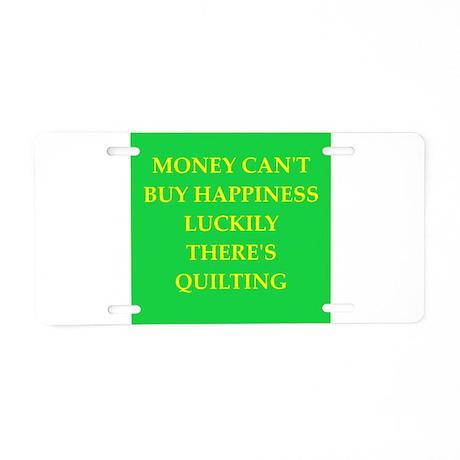 quilter Aluminum License Plate
