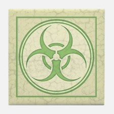 Antique Biohazard -grn Tile Coaster