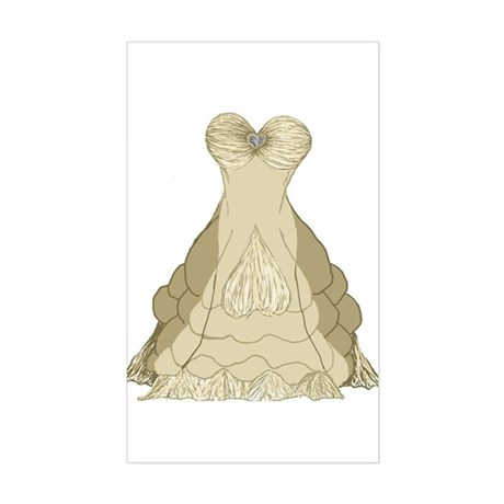 Princess Wedding Dress by Kristie Hubler Sticker (
