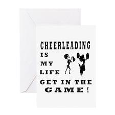 Cheerleading Is My Life Greeting Card