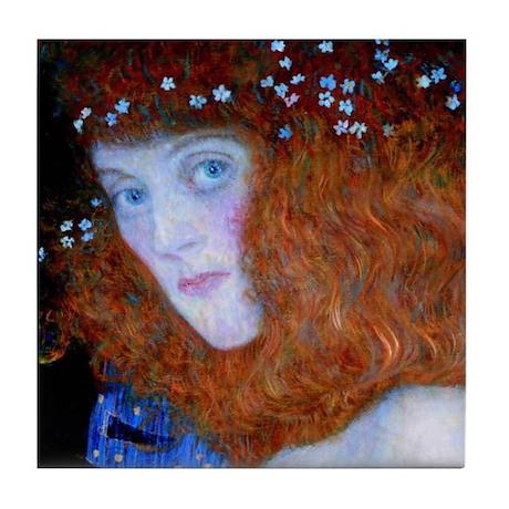 Hope detail by Klimt Tile Coaster