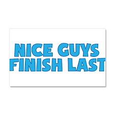 Nice Guys Finish Last Car Magnet 20 x 12