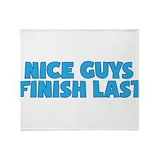 Nice Guys Finish Last Throw Blanket