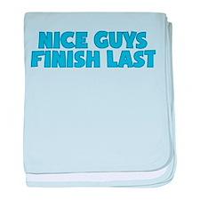 Nice Guys Finish Last baby blanket
