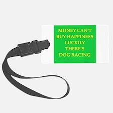 dog racing Luggage Tag
