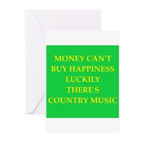Country Music Greeting Cards (pk Of 10)